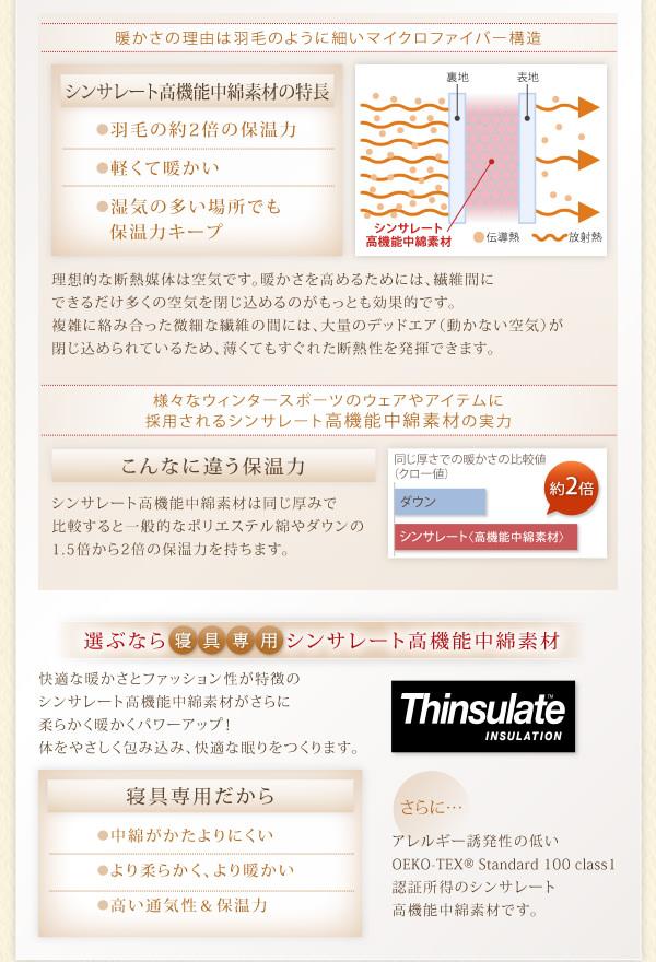 シンサレート高機能中綿素材の特徴