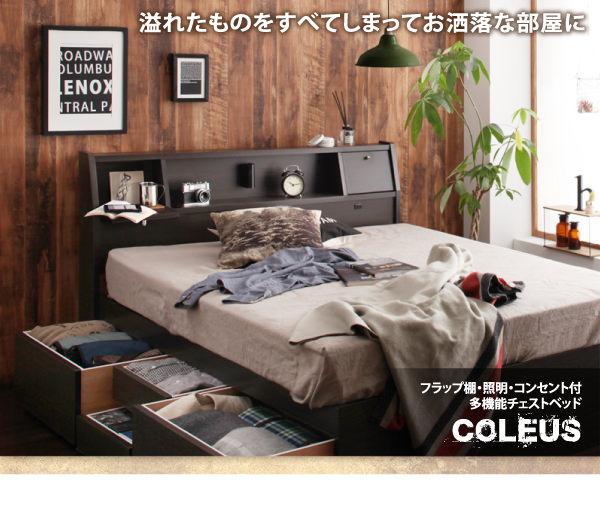 国産多機能チェストベッド【Coleus】コリウス