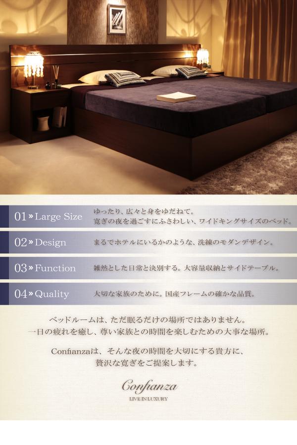デザインベッド【Confianza】コンフィアンサの特徴