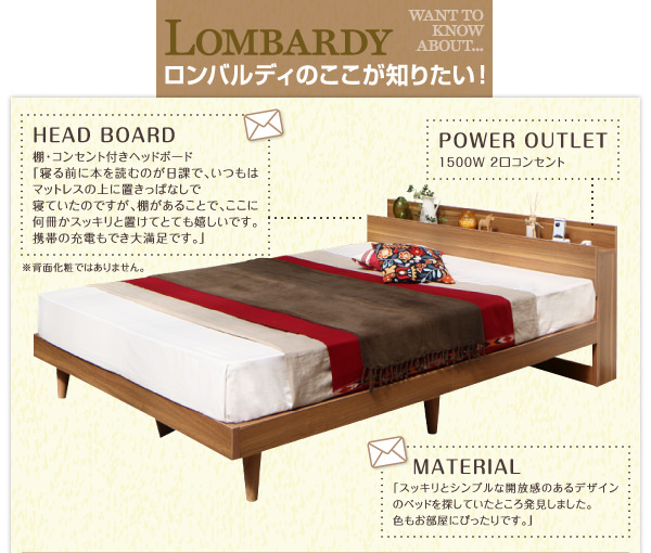 デザインベッド【Lombardy】ロンバルディのココが知りたい!