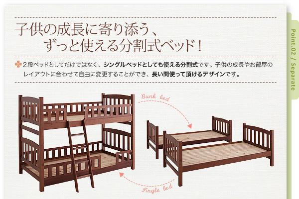 長く使える分割式ベッド!