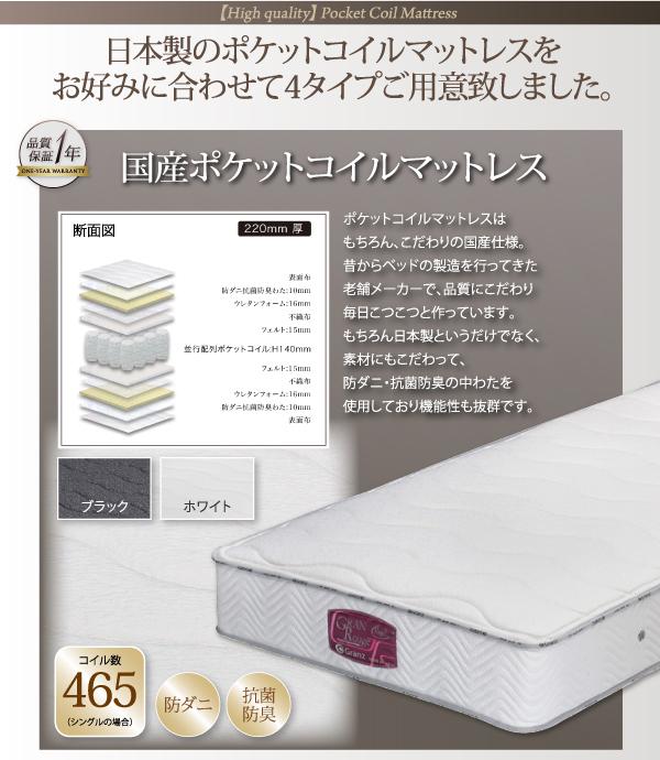 日本製ポケットコイルマットレスを4タイプ