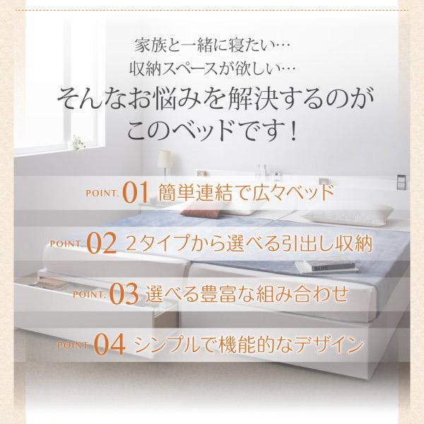 連結ファミリー収納ベッド 【Weitblick】ヴァイトブリック特徴