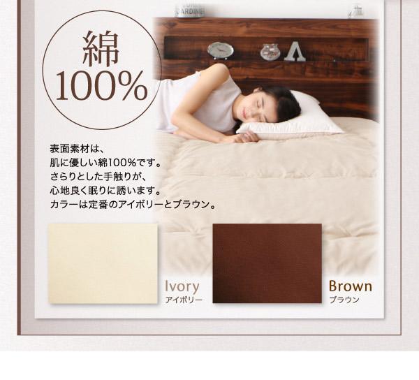表面素材は、綿100%