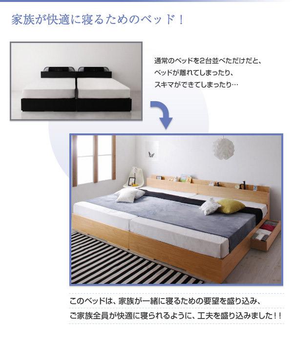 家族が快適に寝るためのベッド!