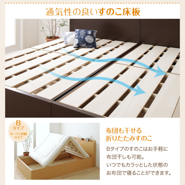 通気性の良いすのこ床板