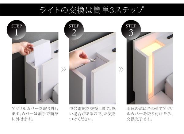 ライトの交換方法