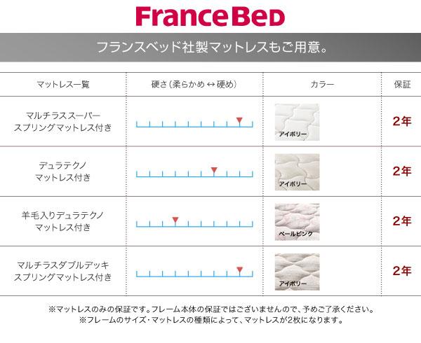 フランスベッド社製マットレスもご用意。