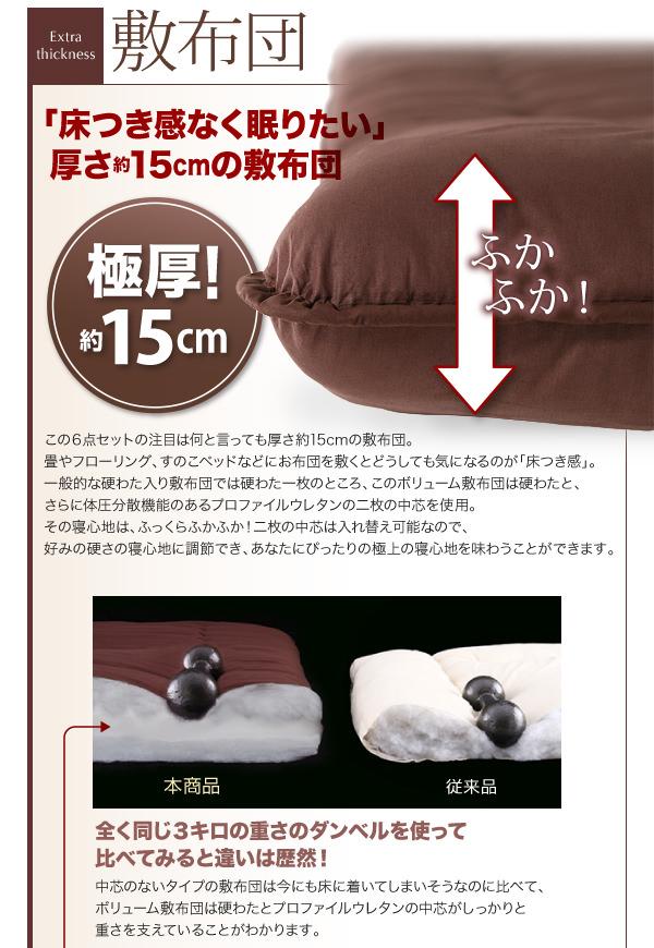敷布団極厚15cm