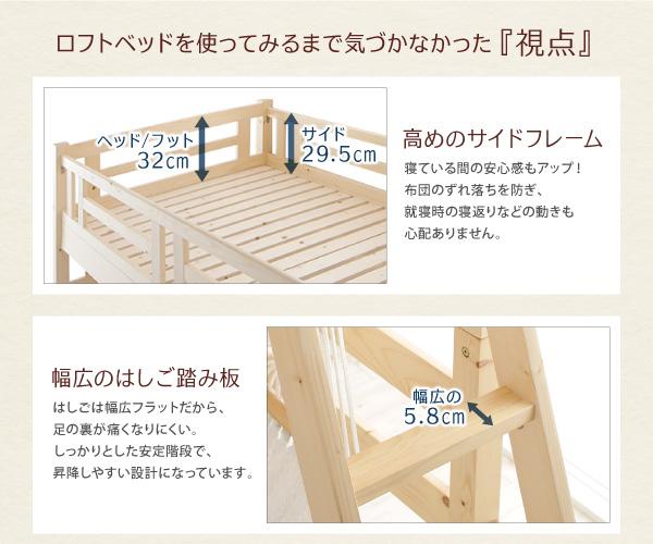 ロフトベッドの特徴