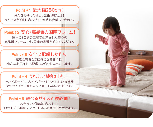 連結式ファミリーベッド【JointJoy】ジョイント・ジョイ特徴