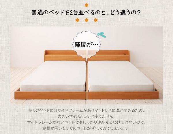 ベッドを2台並べると