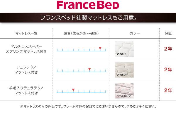 フランスベッド社製マットレスもご用意
