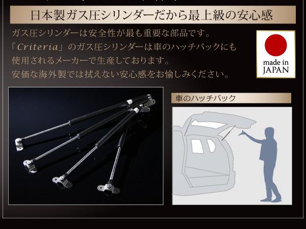 日本製のガス圧式シリンダー