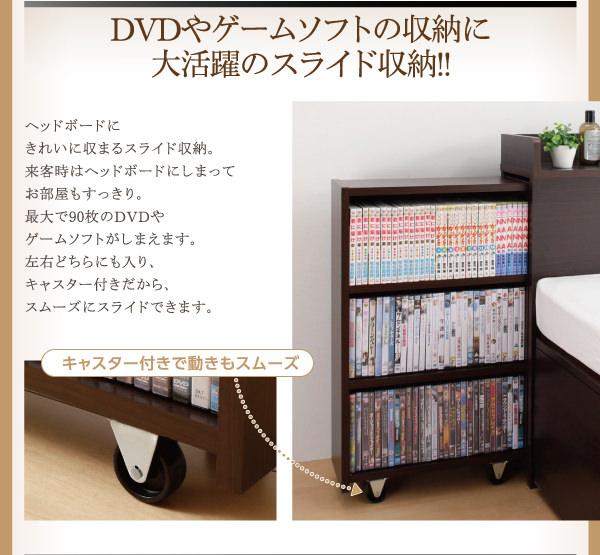 DVDやゲームソフトなどの収納にスライド収納