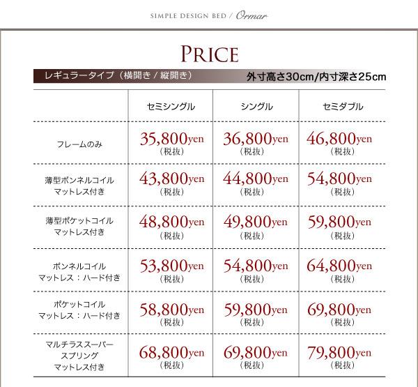 レギュラータイプ価格