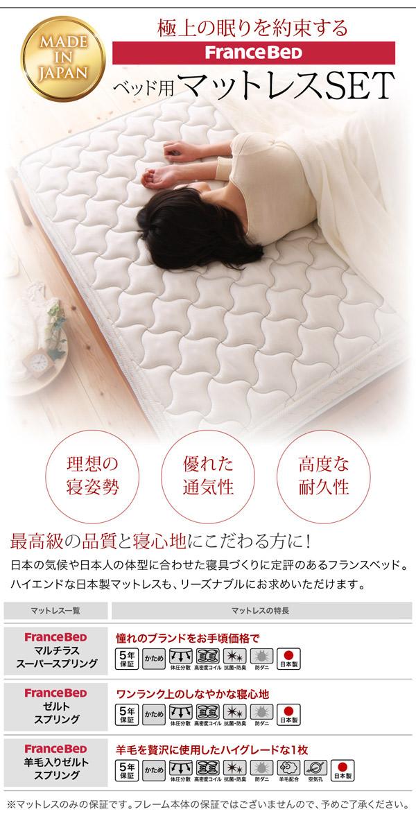 極上の眠りを約束するFrance Bedマットレス