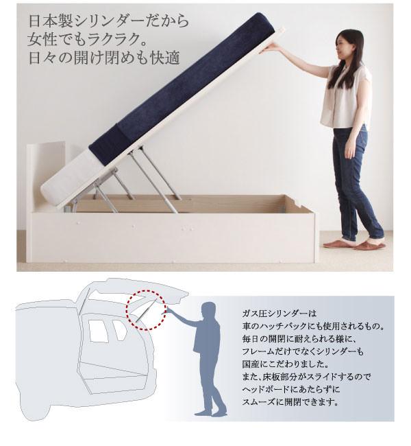 女性でもラクラク、日本製シリンダー