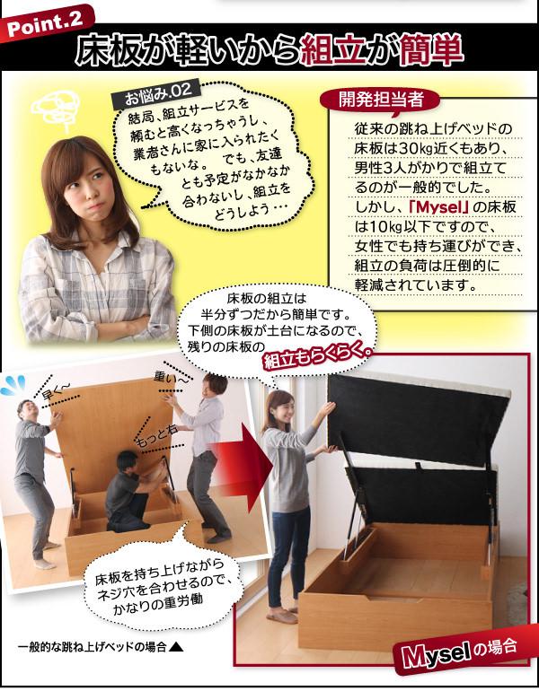 床板が軽いから組み立てが簡単
