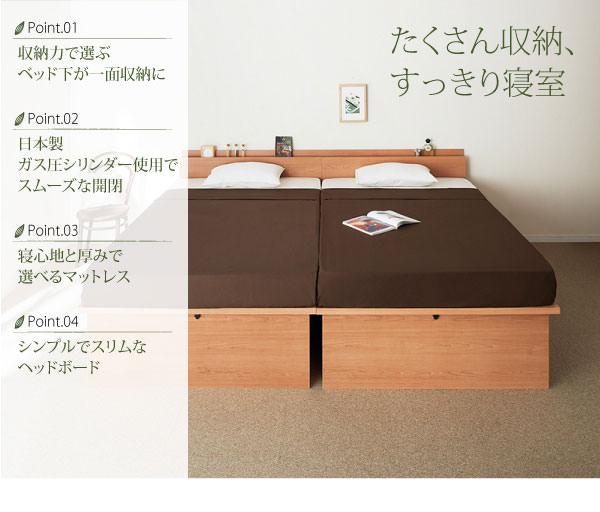 ガス圧式跳ね上げ収納ベッド【NewGlover】ニューグローヴァーの特徴