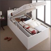 跳ね上げ収納ベッド【Pratipue】プラティーク