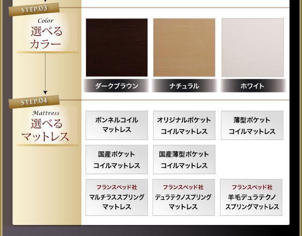 選べるカラーとマットレス