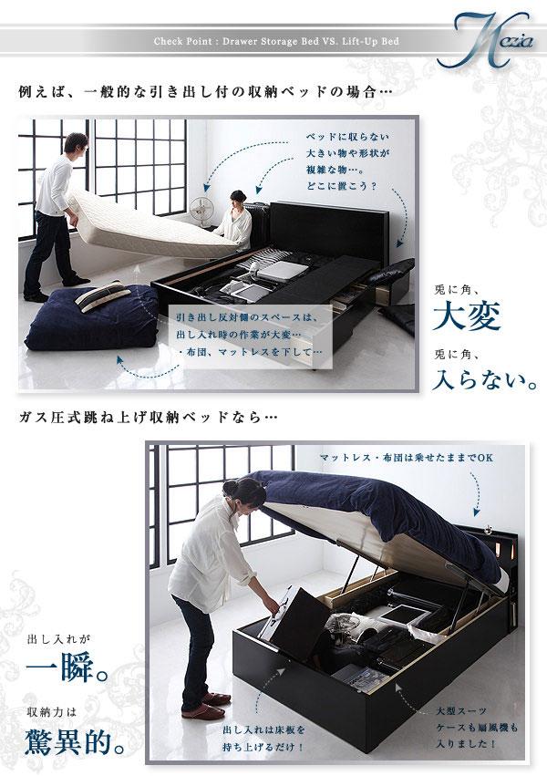 跳ね上げベッドなら簡単に収納可能