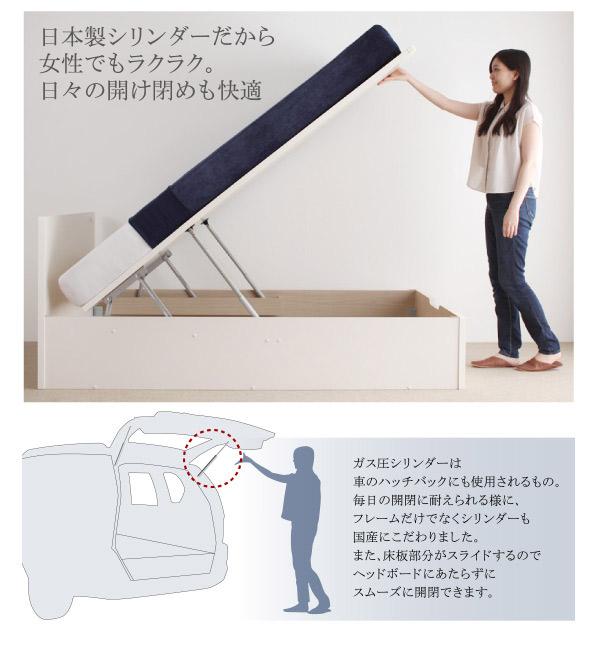 日本製シリンダーだから女性でもラクラク