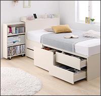 タイプが選べる大容量収納付きベッド【Select-IN】セレクトイン