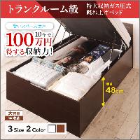 特大収納跳ね上げベッド【T-space】ティースペース