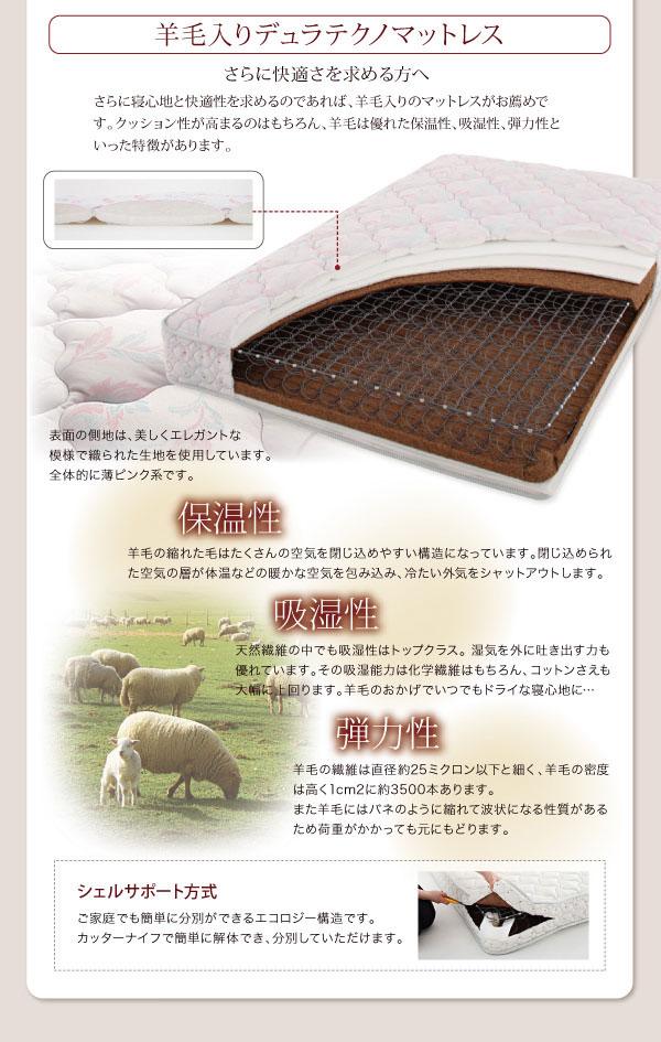 羊毛入りデュラテクノマットレス