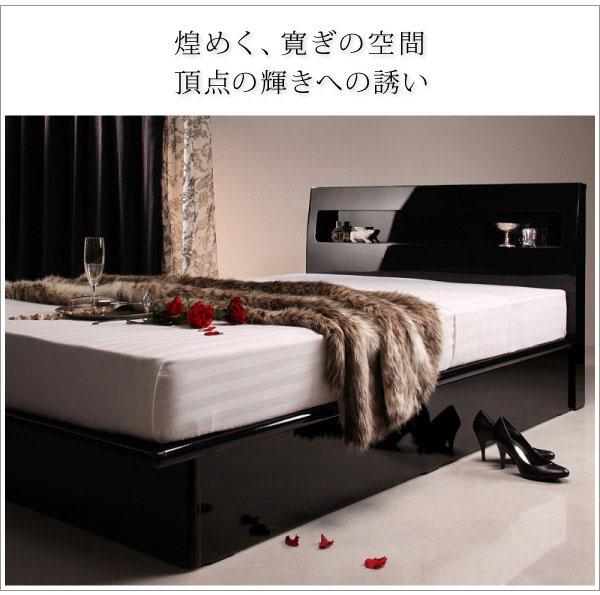 <鏡面仕上げ 跳ね上げベッド 【Zenit】ツェニート