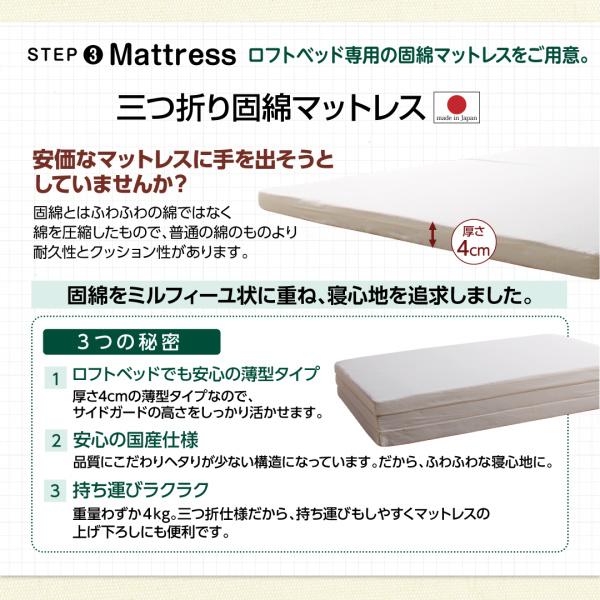 三つ折り固綿マットレス