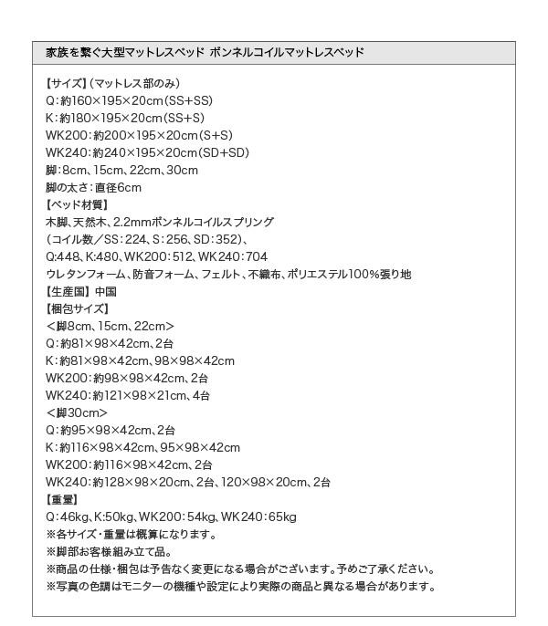大型マットレスベッド【ELAMS】エラムス詳細