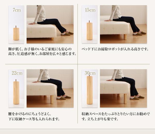 各種脚のサイズ