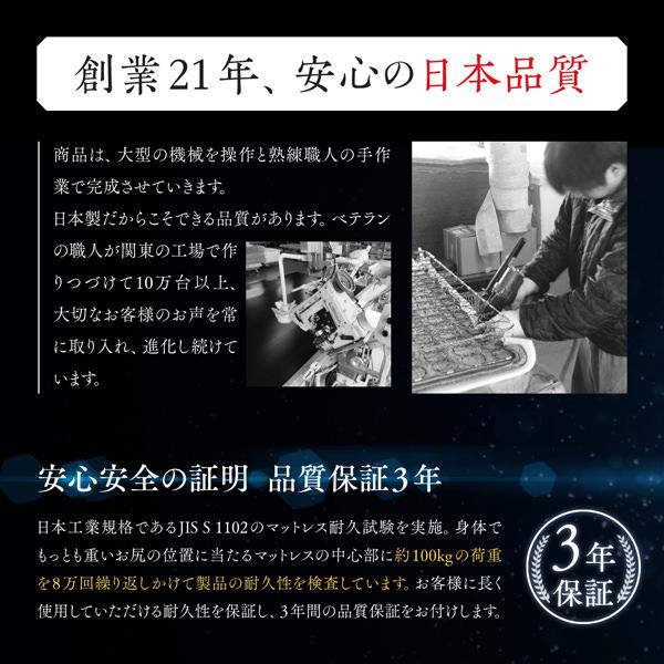 創業21年、安心の日本品質