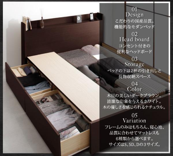 国産 収納付きベッド【Fleder】フレーダーオ特徴