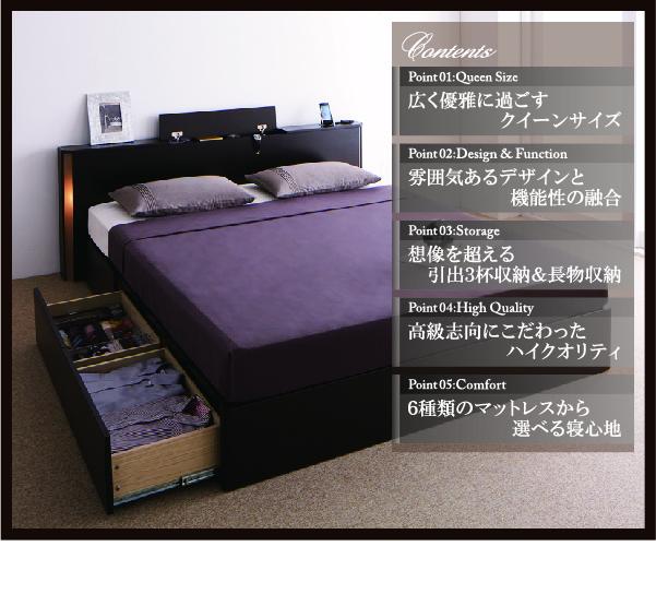 収納付きベッド【Grandsol】グランソル特徴
