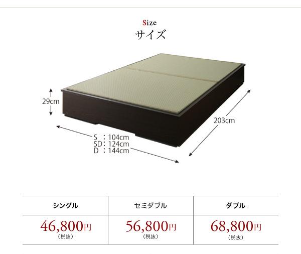 サイズとタイプ別価格
