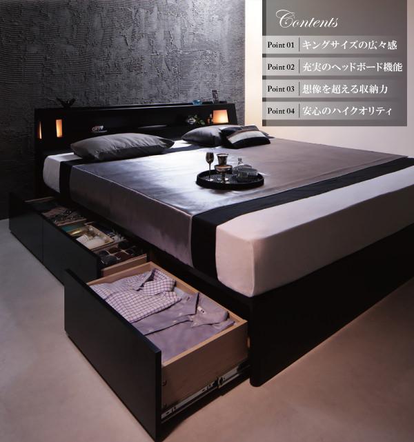 収納付きベッド【Leeway】リーウェイ特徴