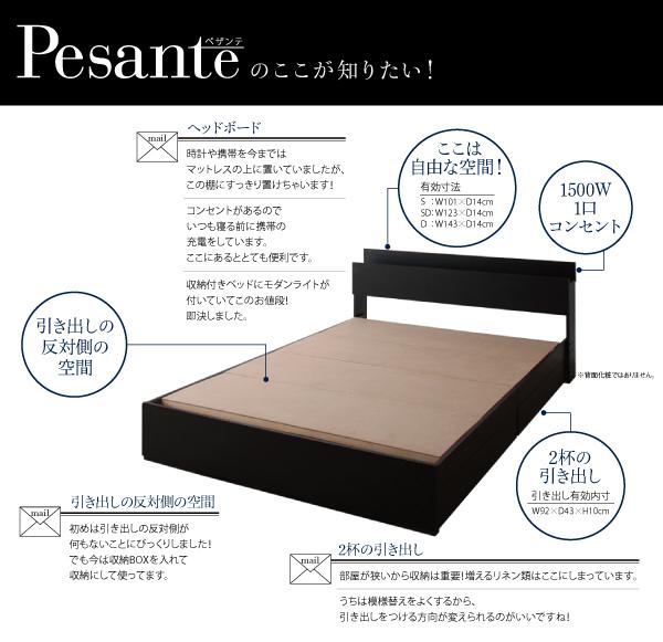 収納付きベッド【Pesante】ペザンテのここが知りたい