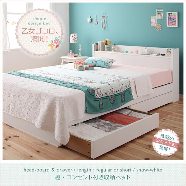 収納付きベッド【Fleur】フルール