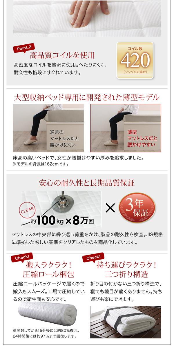 耐久性にすぐれた高品質コイルを使用
