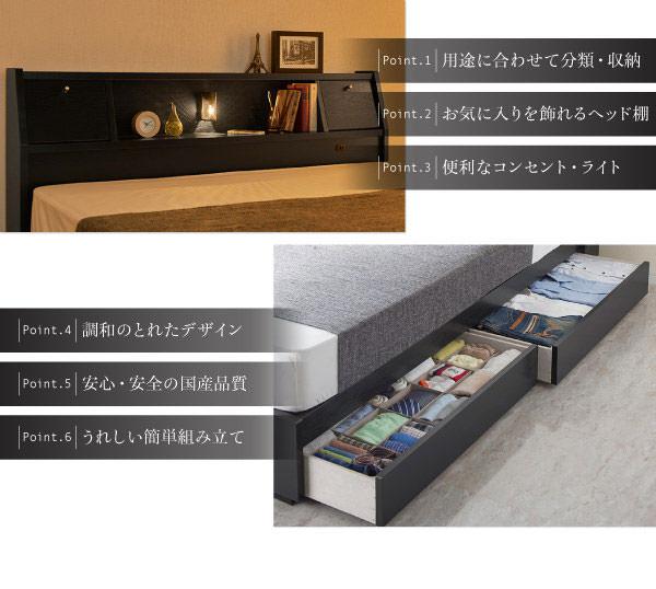 多機能収納付きベッド【Cercatore】チェルカトーレのポイント