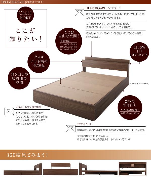 収納付きベッド【Crest fort】クレストフォートここが知りたい!