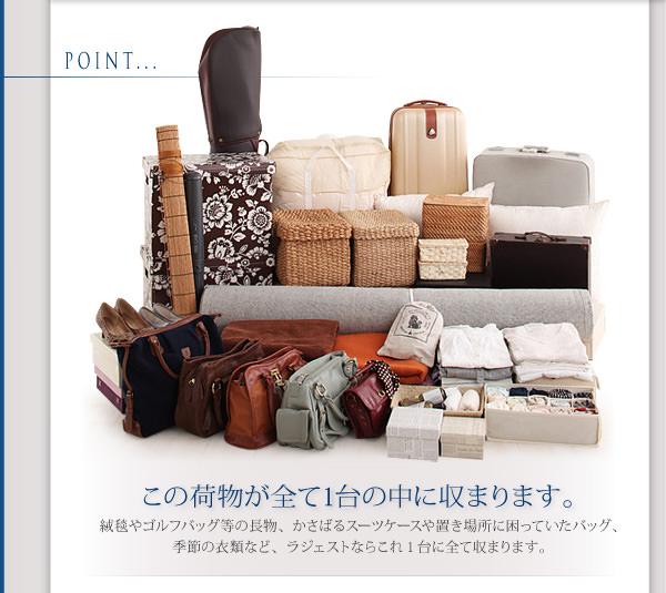 この荷物が全て1台に収納可能です。