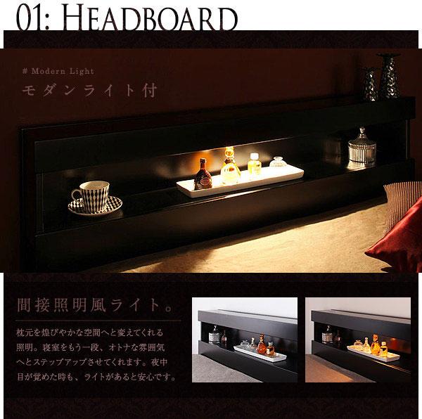 ヘッドボードの照明画像