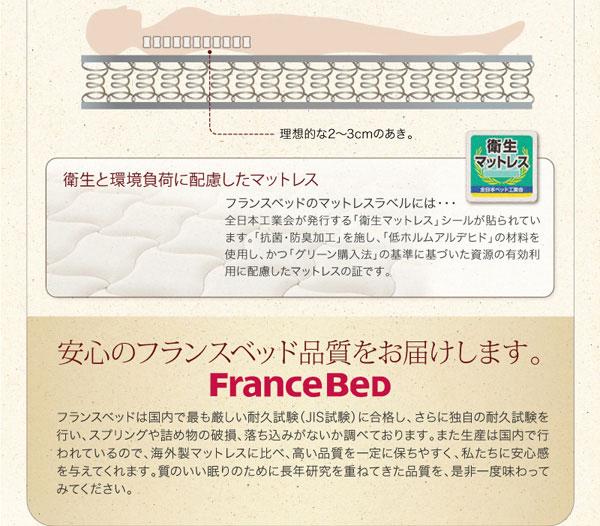 安心のフランスベッド