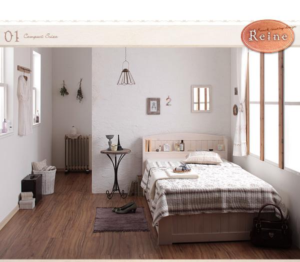 カントリー風のベッド