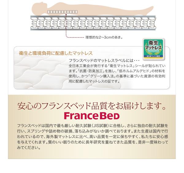 安心のフランスベッド品質を